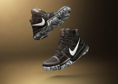 In celebration of Black History Month Nike Basketball has created colorways of the KD KYRIE 3 and LeBron The color choice of black and white f Zapatillas Nike Basketball, Nike Basketball Shoes, Running Shoes Nike, Basketball Stuff, Nike Shoes Cheap, Nike Shoes Outlet, Cheap Nike, Kyrie Irving, Shoe Poster