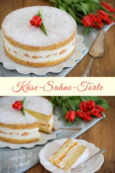 Cheese cream cake: a classic at the cake . - Recipe for cheese cream cake. Refreshingly light cream cake with curd cheese and a loose sponge cak - Easy Cake Recipes, Baking Recipes, Cookie Recipes, Dessert Recipes, Peanut Butter Cookie Recipe, Chocolate Peanut Butter, Chocolate Recipes, Baked Chicken Tenders, Baked Chicken Recipes