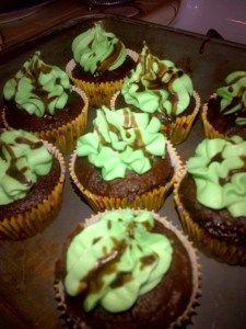 Minty Cupcake Heaven     http://cheerslovechels.wordpress.com/2013/03/22/top-of-the-mint-ing-to-ya/