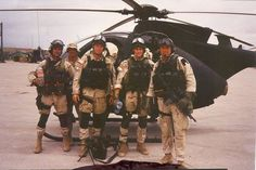 "speartactical: ""1993 in Mogadisho - Delta Force operators with an MH6 helicopter from the 160th SOAR. """