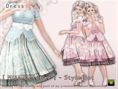 Play Sims, Sims 4 Toddler, Kawaii Dress, Sims 4 Clothing, Sims Mods, The Sims4, Sims 4 Custom Content, Sims Cc, Character Outfits