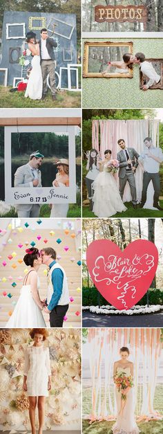 Oh Snap! 45 Creative Wedding Photo Backdrops! - Praise Wedding