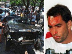Na década de 90, Edmundo também virou notícia por conta de acidente de carro. A colisão culminou na morte de três pessoas. O jipe do craque ficou bastante destruído