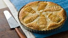 Almond-flavored cream provides a base for this pear tart.