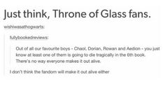 Reading this made me cry....I love all of them too much and this fandom is way too great to die.
