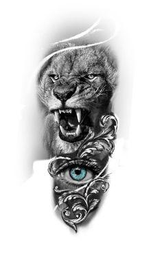 Tattoos Gallery, Lions, Baroque, Black And Grey, Lion Sculpture, Art, Gray, Tattoo Ideas, Animals