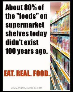 """Eat real food. #food #fun (Picture by FB page """"Thank Your Body"""")"""