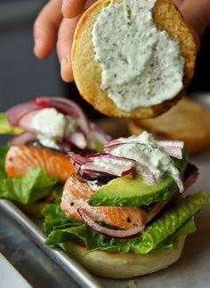 Recette de burger au saumon