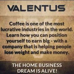 Join my Team & lets help make the World a Healthier Place! ☕www.ExperienceValentus.com/SCrossley