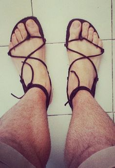 Mens Leather Sandals - Our Fan