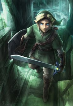 The Legend of Zelda: Twilight Princess, Link / The Hero in Green by VegaColors on deviantART