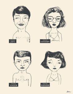 Emocionario I By De Hermo / faces illustration