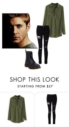 """Dean Winchester"" by alexandria2357 ❤ liked on Polyvore featuring WithChic, Miss Selfridge and Dr. Martens"