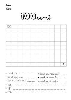 Numeració de 100 al 999