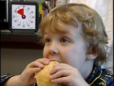 Slow down! The Time Timer helps kids relax and eat well.