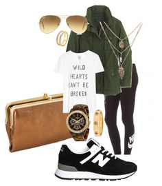 """Wild Hearts Can't Be Broken"" by juliannemv on Polyvore featuring NIKE, New Balance, Monica Vinader, J.Crew, Ray-Ban, Zoe Karssen, FOSSIL, Tory Burch, women's clothing and women"