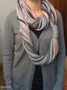 Snood tricotin  Embroidery, Quilting, Needlework