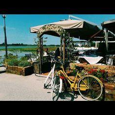 #ShareIG #restaurant #tagliamento #bikes #eating #sunnyday #port #river #bluesky #redflowers #friuliveneziagiulia and #veneto #italy #italia #lignano #breakfast #alcason