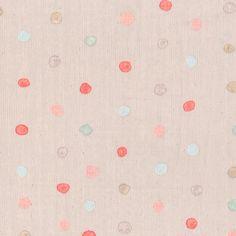 Nani Iro Kokka Colorful Pocho Japanese Fabric - light pink