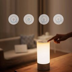 Original Xiaomi Yeelight Bedside Lamp RGB Wireless Touch Control Night Light For Cell Phone Sale - Banggood.com sold out