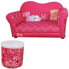 Barbie - Glam Sofa with Storage Ottoman Set A bitpricy but this is so adorable! Wonder if I could find something like it in lavender Baby Chair, Toddler Furniture, Xmas Gifts, To My Daughter, Cute Babies, Armchair, Ottoman, Barbie, Sofa