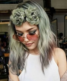Succulent plant inspired braids by Linh Phan