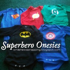While He Was Napping: Superhero Onesies
