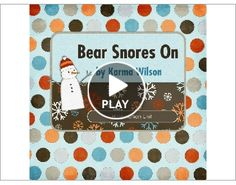 Painting craft to go with book, Bear Snores On by Karma Wilson