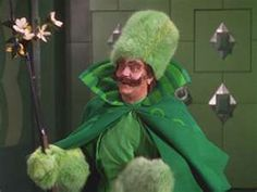 Green fur!!!  Gatekeeper (Frank Morgan) for the Emerald City in The Wizard of Oz TM ...