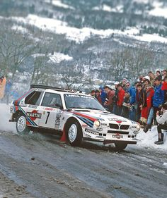Lancia Delta S4 of Henri Toivonen (FI) and Sergio Cresto (US) in Monte Carlo -86.