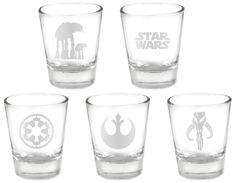 Star Wars Custom Etched 5pc. Shot Glass Set
