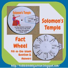 Bible Fun For Kids: Solomon Rebuilds the Temple. Mystery of History Volume Lesson 33 Bible Stories For Kids, Bible Study For Kids, Bible Lessons For Kids, Kids Bible, Sunday School Projects, Sunday School Lessons, School Ideas, Bible School Crafts, Bible Crafts For Kids
