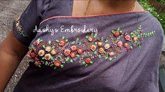 Saree Embroidery Design, Hand Embroidery Designs, Princess Dress Patterns, Churidar Designs, Sari Dress, Blouse Designs, Sarees, Anna, Couture