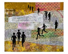 Running art quilt by Shirley MacGregor