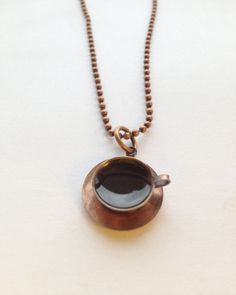Vintage coffe cup finding with colored jeweler's resin.