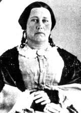 Susannah Wilkinson Dickinson was the wife of Alamo defender Almeron Dickenson.  Susanna joined Almeron in San Antonio following the Battle of Bexar, after their house in Gonzales was looted by Texas militia members.   She was 22 years old at the time of the Battle of the Alamo, to which she was a witness from the sacristy room of the Alamo church.  Following the battle, she was sent by Santa Anna to deliver a message to Texas General Sam Houston.