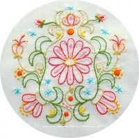 August Blooms Embroidery Pattern