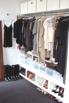 Walk-In closet >>> i met a woman who, at a wedding, insisted she only wore black. she said it so unabashedly. i admired it. wear what you love and only what you love.