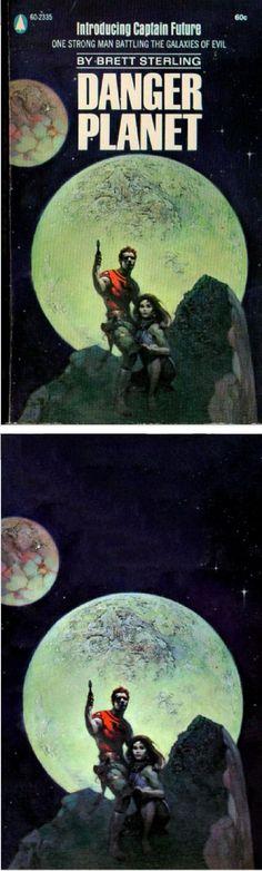 FRANK FRAZETTA - Danger Planet by Brett Sterling - 1968 Popular Planet - cover by isfdb: