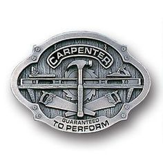 Carpenter Enameled Belt Buckle