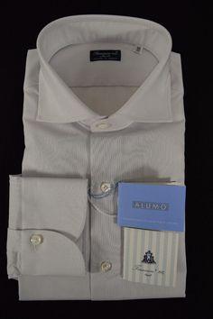FINAMORE camicia UOMO sartoriale classica COTONE ALUMO tg. 39-40-41-42-44 NWT