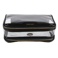Black Transparent Inflight Wash Bags Anya Hindmarch Accessories
