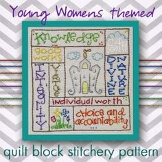 Young Women's (LDS) themed Block
