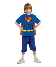 Take a look at this Superman Muscular Tee & Cape Dress-Up Set - Boys by Superman on #zulily today!