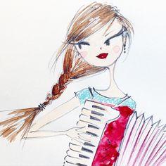 Accordionist. #accordion #sketch