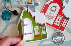 House Christmas tags using PTI's Make it Market Kit All Through The House