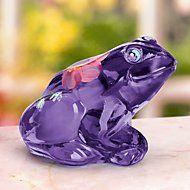 Fenton Lila The Little Purple Frog Art Glass Figurine by Lenox