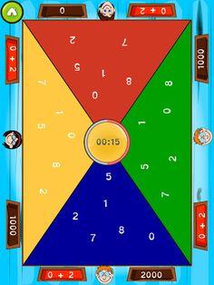 Taljagt koster 7 kr, men her kan  op til 4 børn konkurrere på den samme ipad om først at klare en plus eller minus opgave. Man vælger selv hvilke tal der skal indgå og hvor langtid man skal spille.