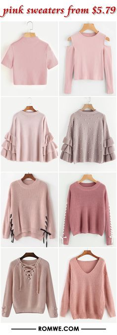 pink sweaters from $5.79 - romwe.com