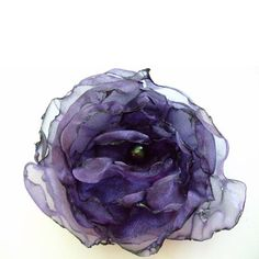 Beautiful purple organza flower accessory https://www.etsy.com/listing/208598789/purple-organza-flower-amethyst-wedding #wedding #prom #dance #purple #shopping #hairaccessories